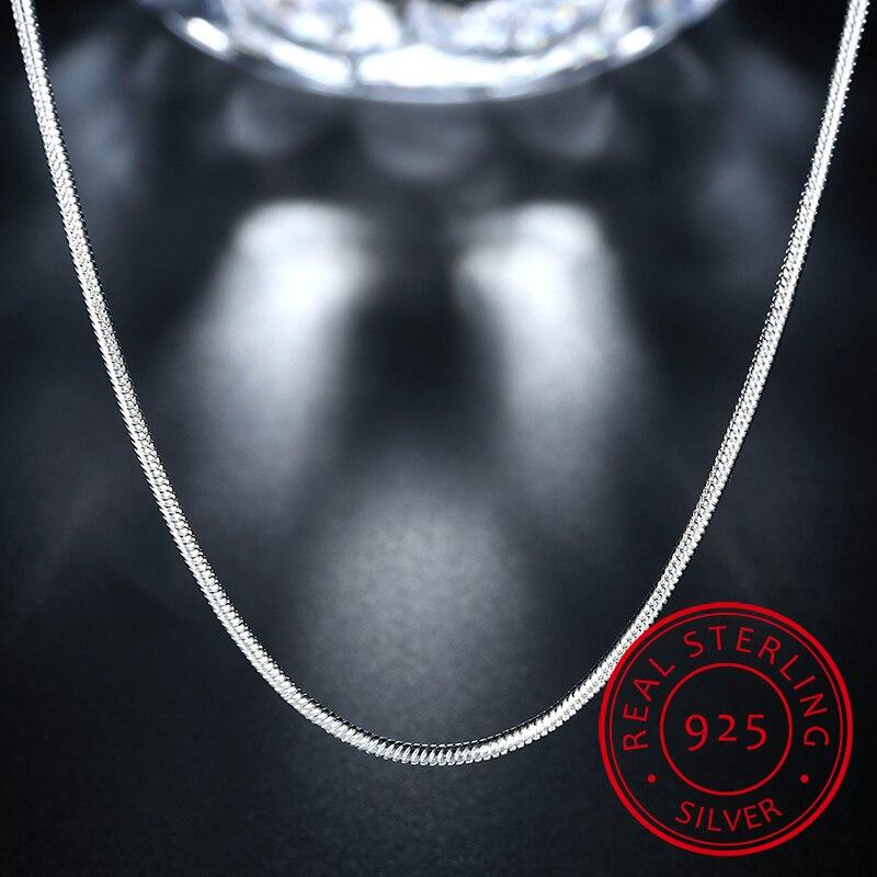 Высокое Качество Модные Горячие Продажи Змеиная цепь 925 стерлингового серебра Ladies'snake ожерелья ювелирные изделия подарок оптом