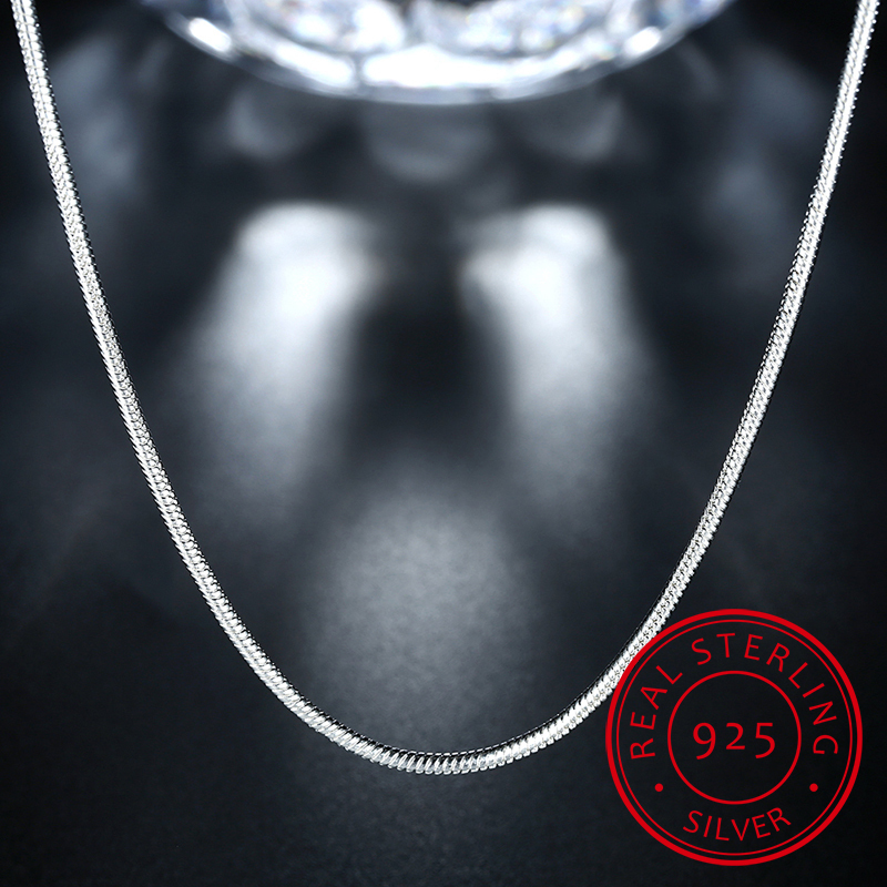 High Quality Fashion Hot Sell Snake Chain 925 Sterling Silver Ladies`snake Necklaces Jewelry Gift Wholesale
