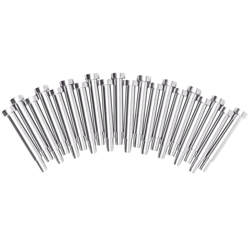 20 Pack Stainless Steel Invisible Receiver And Swage Stud End For 3/16 Inch Cable Railing, Deck Stair Threaded End Fitting For W