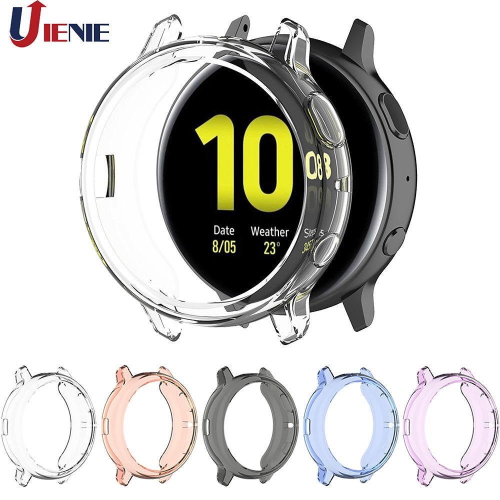 TPU Silicone Protective Case Cover For Samsung Galaxy Watch Active 2 40mm 44mm SM-R830 R820 Smart Bracelet Protector Shell Cases