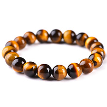 Beads Bracelet Tiger-Eyes Natural-Stone Handmade Jewelry Men Charm for Man Casual Pulseras