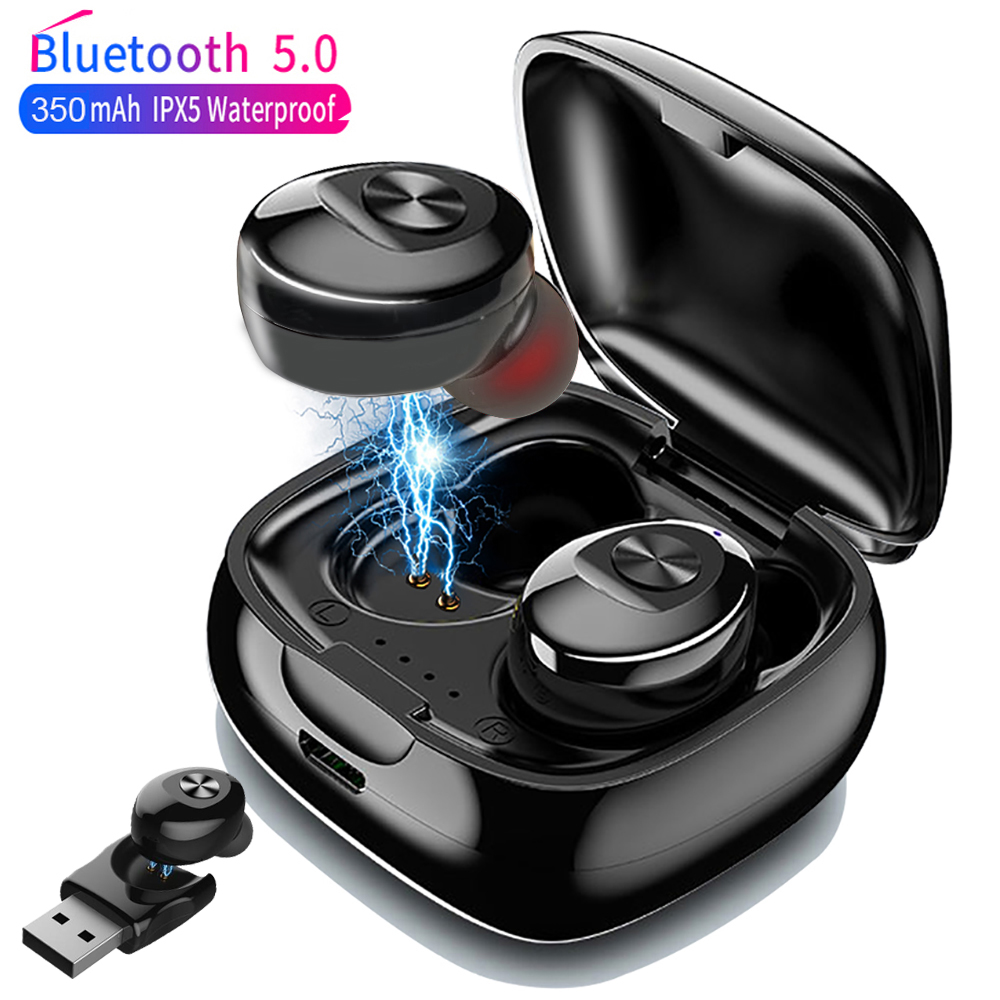 XG12 TWS Bluetooth 5.0 Wireless Earphone 5D Stereo Wireless Earbus HIFI Sound In-Earphone Sport Earphone Handsfree Game Headset