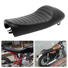 Para motocicleta tipo Cafe asiento de competición Custom Vintage sillín con Gibas Retro asiento para Yamaha SR400/XJ 500 XS KZ Honda CB200/350/500/750 Suzuki GN
