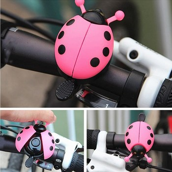 1PC New Bicycle Bell Ring Beetle Cartoon Cycling Bell Lovely Kids Ladybug Bell Ring For Bike Ride Horn Alarm Bicycle Accessories image