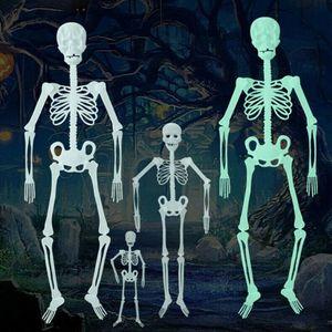 Хэллоуин реквизит человеческий скелет светящийся полноразмерный череп ручная жизнь тело посейбл анатомическая модель вечерние украшения ...