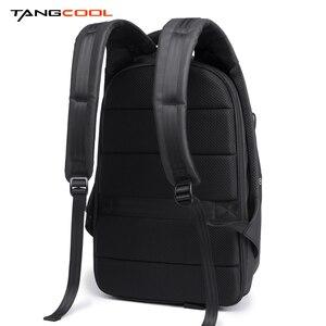 Image 3 - Tangcool erkek moda sırt çantası 17.3 inç Laptop sırt çantası su geçirmez USB yeniden şarj edilebilir açık sırt çantası günlük okul sırt çantası