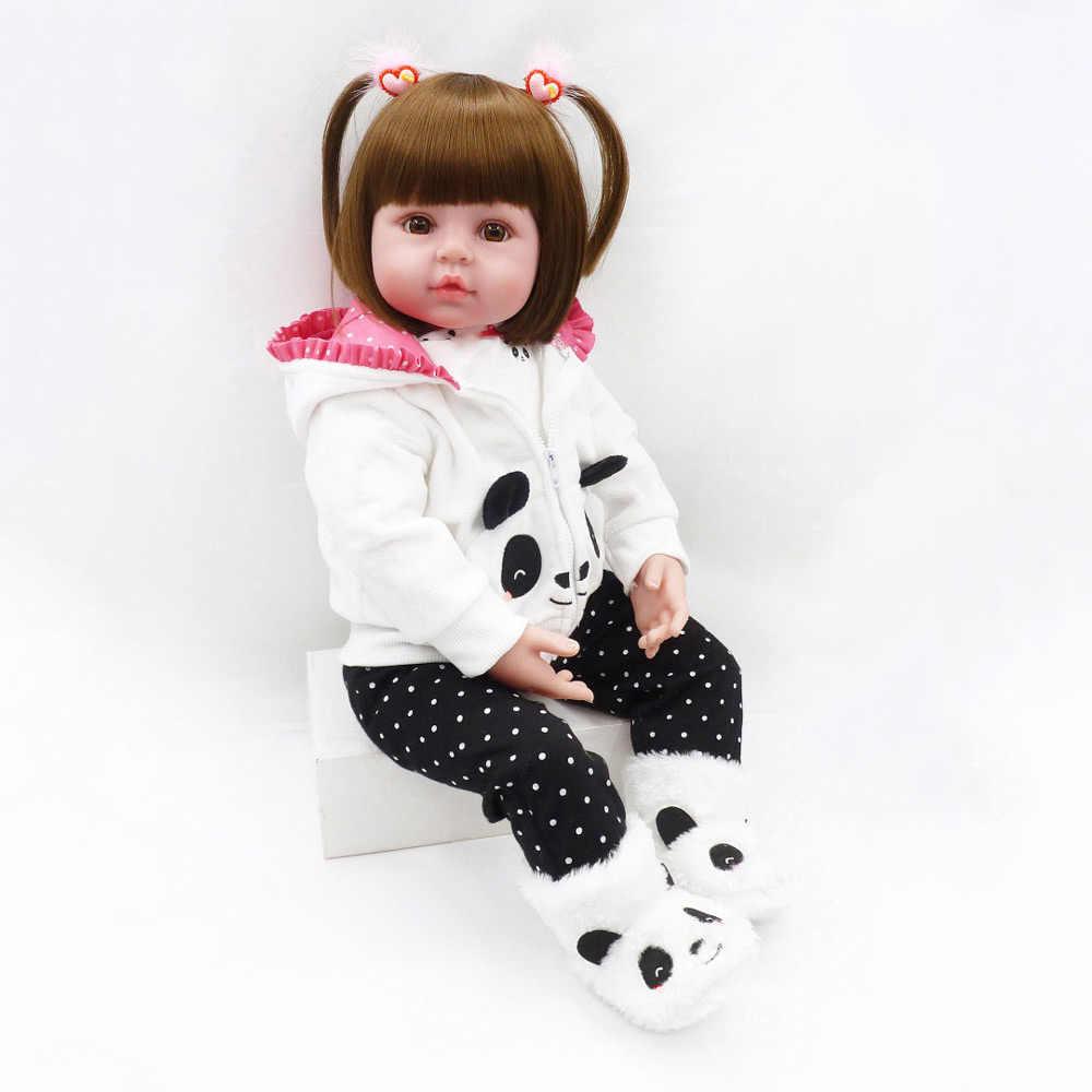 Silikon Reborn laleczka bobas 18 Cal 45cm lalki bebe Reborn żywe realistyczne Boneca lol realistyczne prawdziwe Menina dziewczyna zabawki urodzinowe