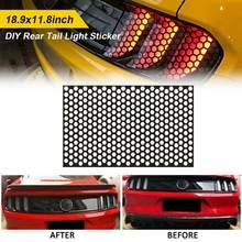 Pegatinas universales de panal de abeja para luz trasera de coche, accesorios exteriores, cubierta de lámpara para todos los modelos de coche, Mustang CSV