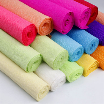 10pcs 250*50CM Gift Wrapping Paper Felt Paper Flower Colored Crepe Paper Roll Decoration Craft Wedding Flower DIY