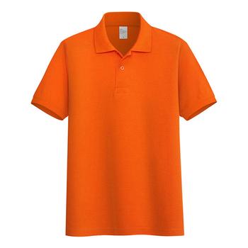 AOLIWEN mężczyźni duży rozmiar pomarańczowy 65 bawełna koszulka polo jednolity kolor z krótkim rękawem casual business sport oddychająca obcisła koszulka polo tanie i dobre opinie SHORT CN (pochodzenie) Szczupła Na co dzień guzik Stałe COTTON Asian size Business Casual Green blue black Navy Orange gray red yellow pink purple white
