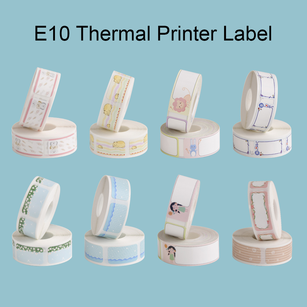 Supvan E10 Thermal Printing Label Waterproof Anti-Oil Tear-Resistant Price Label Paper Roll Scratch-Resistant Label for E10