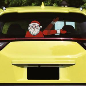 Рождество Санта Клаус Олень рождественское стикер-Новинка для автомобиля заднего стекла стеклоочиститель наклейки украшения для Рождества