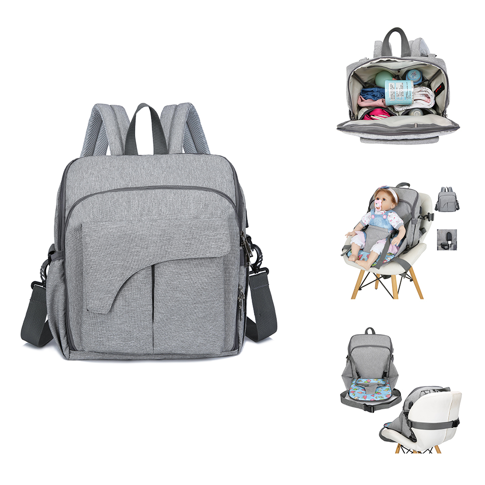 Multi-functional Mom Backpack Diaper Bags Portable Changing Baby Chair Function Bag Handbag Maternity Bag Nappy Travel  Pack