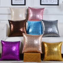 Glittering Sequins Decorative Pillow Gold Glittering Pillowcase Sofa Living Room Cushion Cover Sofa Seat Cafe Home 45 X 45cm цена 2017