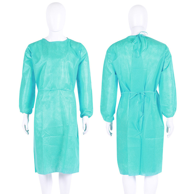 10PCS Portable Non-woven Security Protection Suit Comfortable Disposable Cover Up Isolation PPE Gown for Factory Laboratory