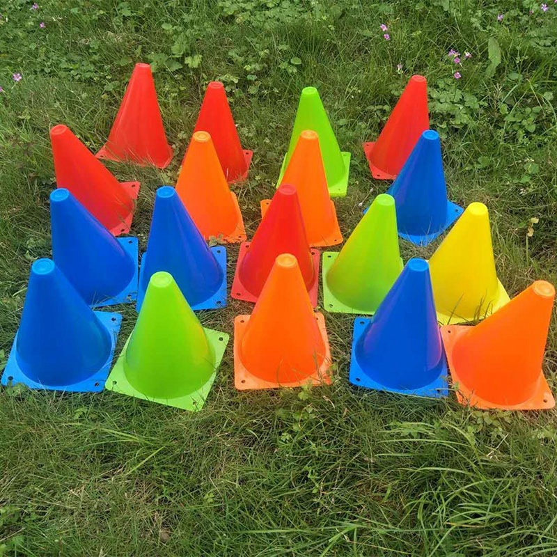 25 Piece Football Conical Cone Set With Training Stand And Bag Suitable For Track And Field Cone Marking Football Children's Spo