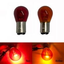 Ampoule BAY15D 12V rouge ambre PY21W 1156 BA15S pour Scooter, indicateur de freinage, clignotant, lampe halogène, 1 pièces