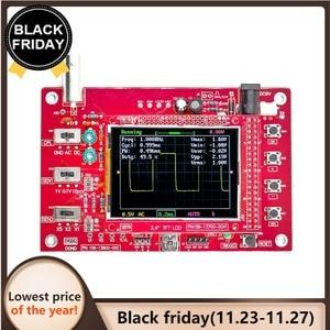 Image 1 - Oscilloscope numérique de poche DSO FNIRSI 138 2.4 pouces TFT, Kit bricolage même, pièces portables + sonde Oscilloscope P6100