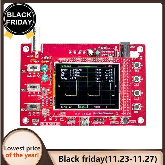 Oscilloscope numérique de poche DSO FNIRSI 138 2.4 pouces TFT, Kit bricolage même, pièces portables + sonde Oscilloscope P6100