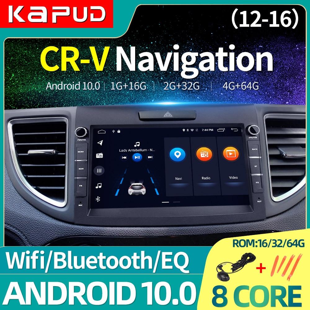 Kapud Autoradio para Honda CRV CR-V Android10 GPS Multimedia Video coche REPRODUCTOR DE Radio DE NAVEGACIÓN 2012, 2013, 2014, 2015, 2016 4G