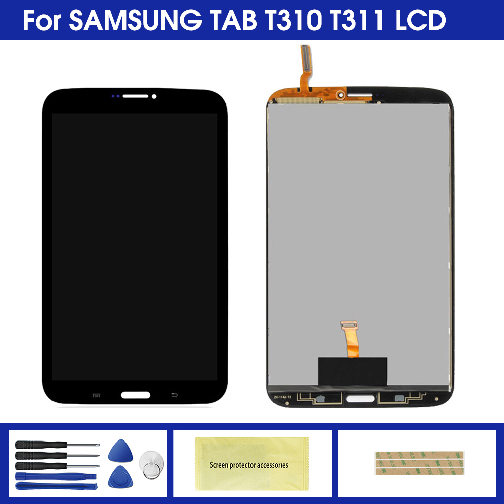 Display For Samsung Galaxy Tab 3 8.0 T310 <font><b>T311</b></font> <font><b>SM</b></font>-T310 <font><b>SM</b></font>-<font><b>T311</b></font> <font><b>LCD</b></font> Display Touch Screen Digitizer Sensors Assembly Panel image
