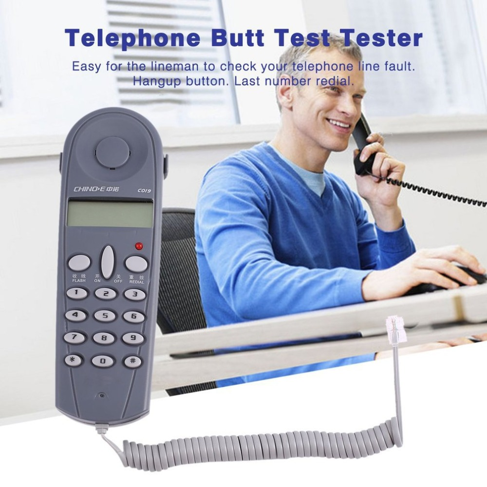 1set Telephone Phone Line Network Cable Tester Butt Test Tester Lineman Tool Cable Set Newest