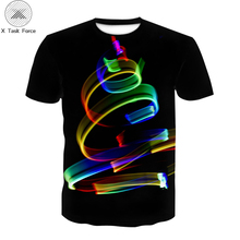 3D Geometric color Stripe Pattern Print boy clothes 3d T-shirt Black Tee Casual Top Suitable for The boy's T-shirt Plus Size 6xl sexy hollow high neck stripe pattern t shirt