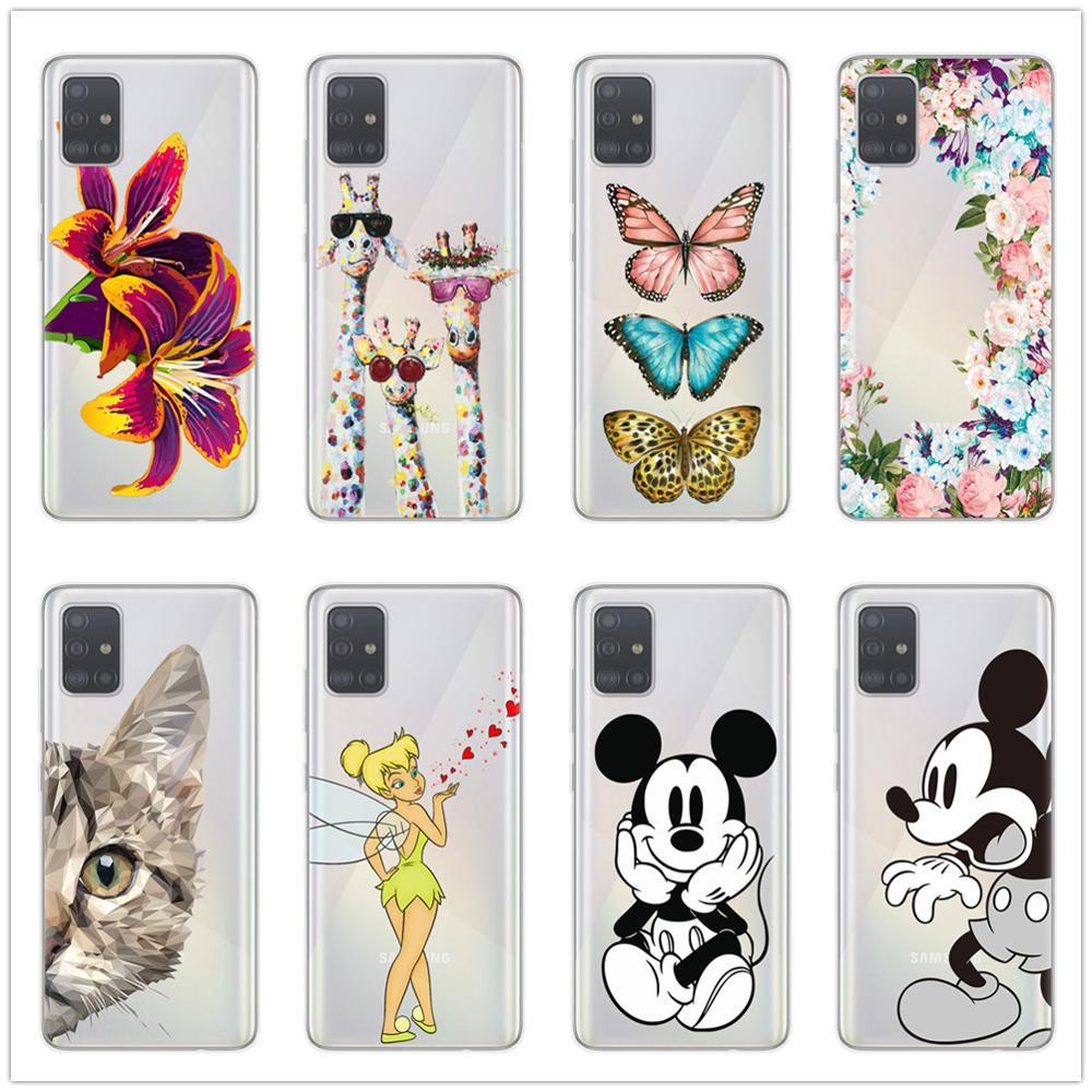 Cartoon Soft TPU Phone Case For Coque Samsung S20 Ultra Plus A51 A71 A10 A20 A30 A40 A50 A70 Note 10 Pro Lite Shell Clear Cover