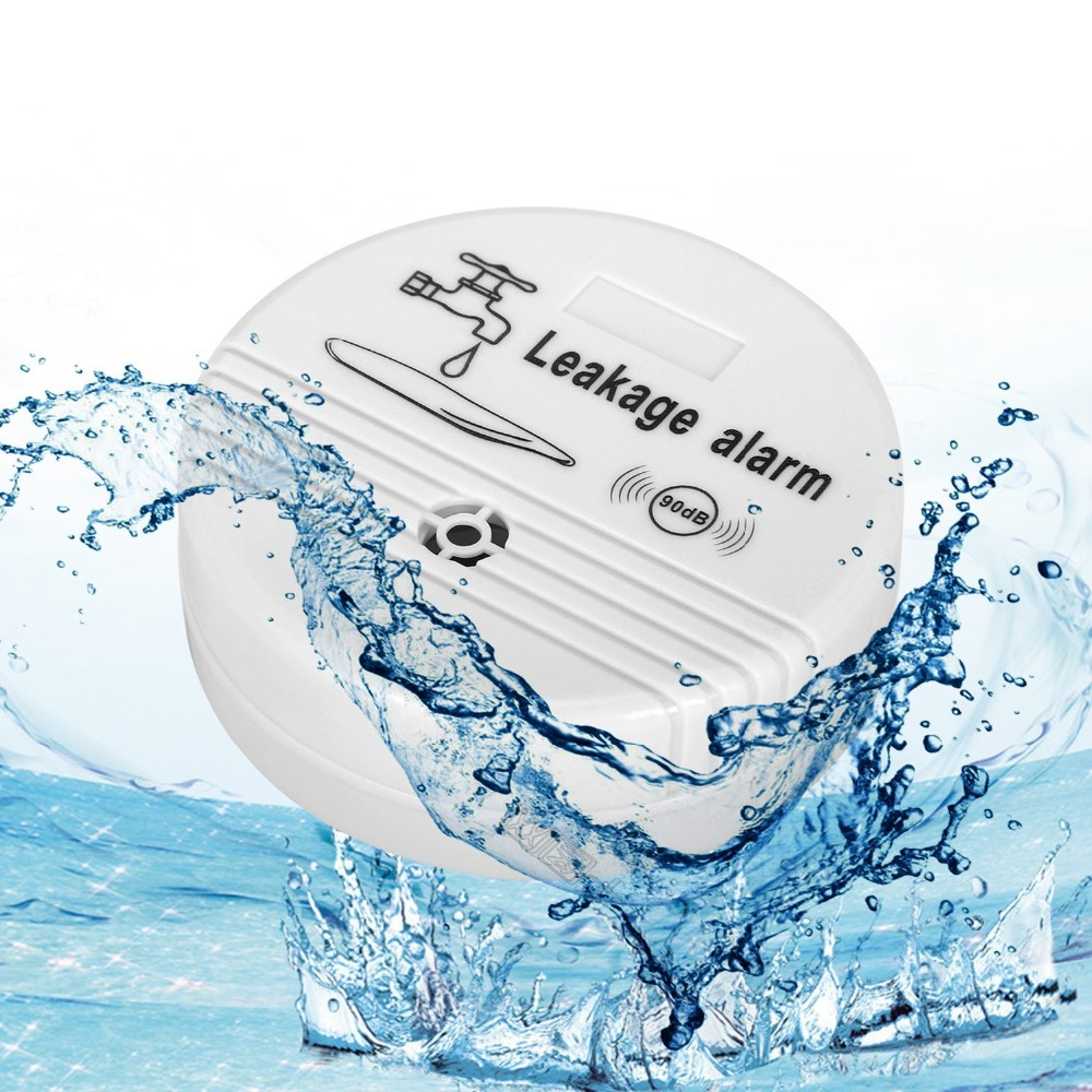 Water Overflow Leakage Alarm Sensor Detector 90dB Water Level Alarm Leak Flood Detection Home Security Alarm System