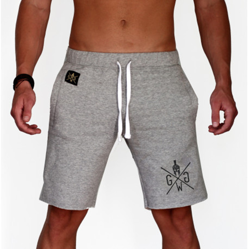 Summer Leisure Sport Knee Lenght Pants Gyms Fitness Bodybuilding Running Trainning Shorts Male Fashion Beach Shorts