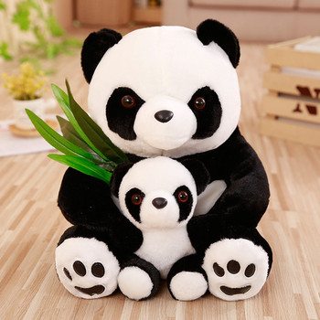 25-50cm Panda Plush Sitting Mother and Baby Panda Plush Toys Stuffed Panda Dolls Soft Pillows Kids Toys Kawaii Plush Cute Gifts 1pc 30cm sitting mother and baby koala plush toys stuffed koala dolls soft pillows kids toys good quality