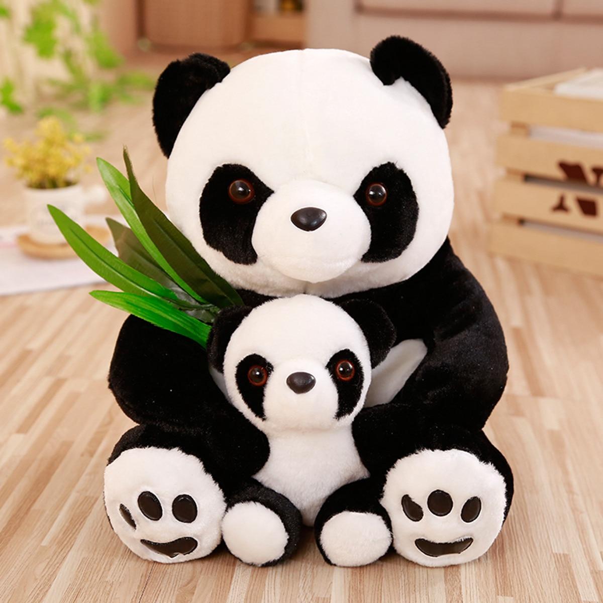 25-50cm Panda Plush Sitting Mother and Baby Panda Plush Toys Stuffed Panda Dolls Soft Pillows Kids Toys Kawaii Plush Cute Gifts