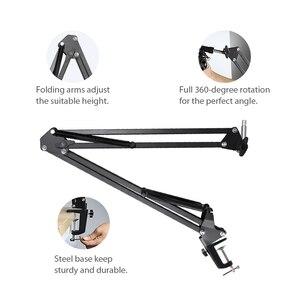 Image 4 - MAONO Mikrofon Suspension Boom Scissor Arm Stehen für Professionelle Podcast microfone AU B01