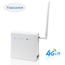 Yeacomm P25 IDU 잠금 해제 300Mbps 무선 모바일 4G 실내 LTE CPE WiFi 라우터 SIM 카드 슬롯 및 외부 안테나