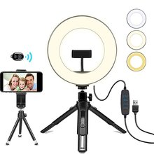 fill light video live ring light led beauty photography light for cellphone photography led selfie clip ring light with tripod 8 Inch Photography Lighting LED Selfie Ring Light With Stand Tripod For Youtube Makeup Video Live Studio Flat Ring Fill Light