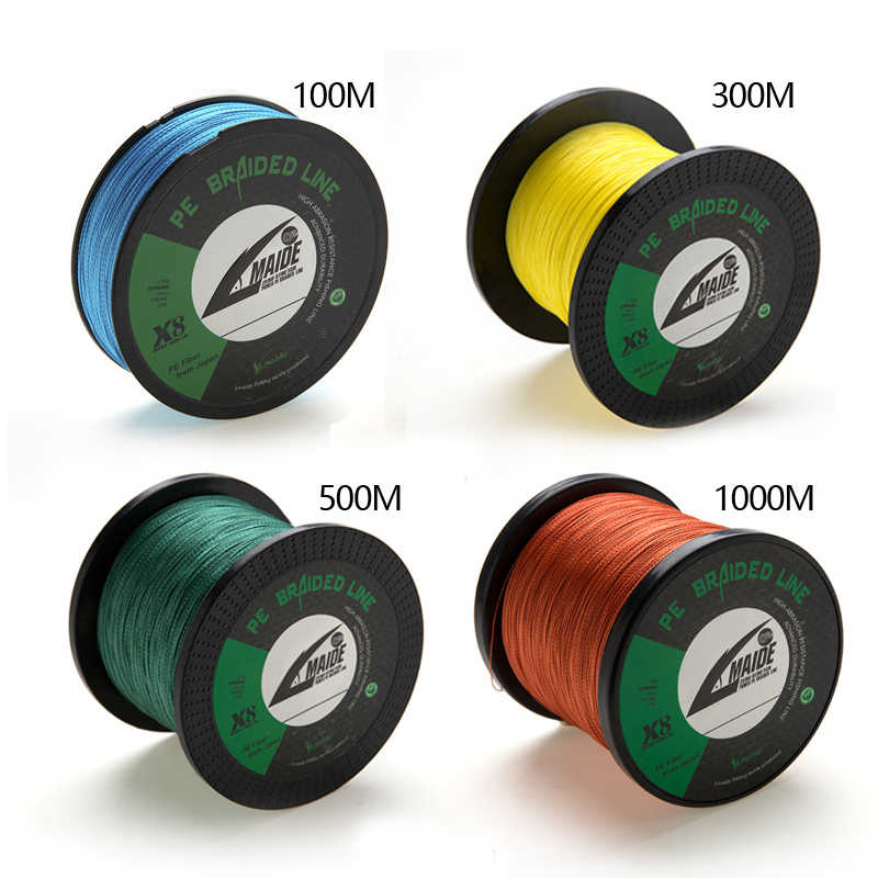 Braided Fishing Line 8 Strands 300m 500M Super Strong Multifilament PE lot