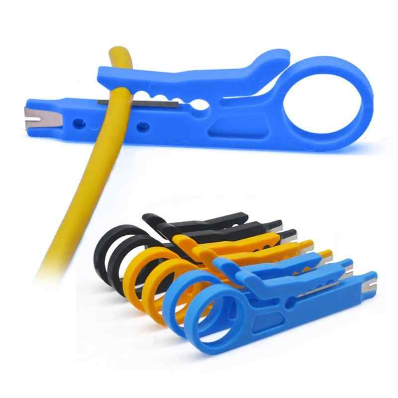 3 Colors Mini Pocket Portable Wire Stripper Knife Multifunctional Crimper Crimping Tool Cable Stripping Wire Cutter