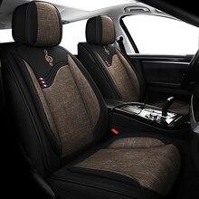 Funda universal de lino de lujo para asiento de coche, para renault logan 2 laguna2, sandero fluence megane 2 3 4, símbolo kadjar kangoo sander