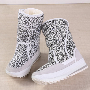 Image 3 - Women winter boots platform non slip waterproof winter shoes women ankle boots thick fur warm women snow boots for  40 degrees