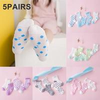 5 Pairs Kids Baby Socks Spring Summer Cotton Mesh Breathable Newborn Infant Baby Boy Girl Socks For 0-6 Years Mesh design gifts