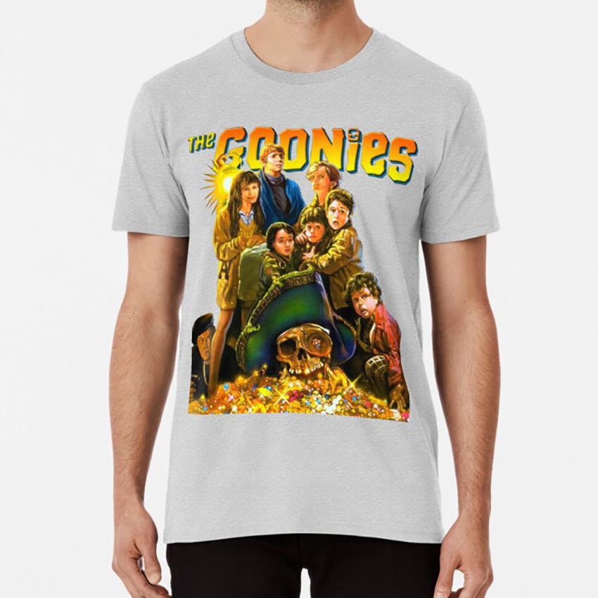 The 85 Action Movie <font><b>T</b></font> <font><b>Shirt</b></font> Goonies Astin Brolin <font><b>Sean</b></font> Josh Treasure Planet Island Coco image