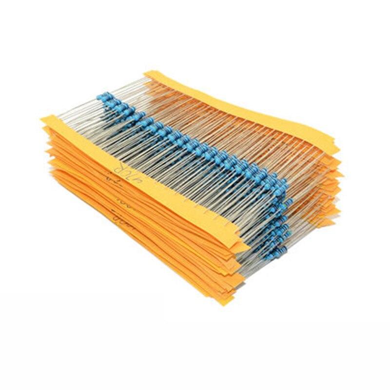 1 упаковка 300 шт 10-1 M Ом 1/4 Вт Сопротивление 1% металлического пленочного резистора сопротивления Ассортимент Комплект 30 видов каждый 10 шт