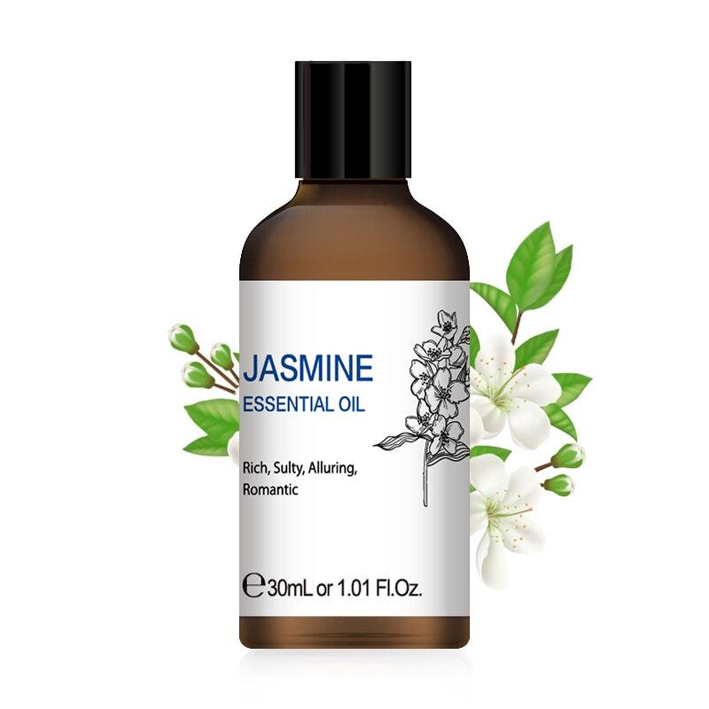 1OZ Peppermint Jasmine Essential Oils 30ML Purifying Refresh Air Diffuser Aroma Oil Vanilla Rose Lemon Myrrh Ginger Grapefruit