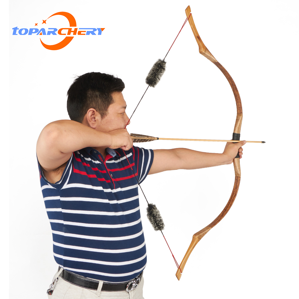 Toparchery Traditional Hungarian Archery Recurve Bow Longbow for Adult Outdoor Sports Competition Training Game Hosebows 30-50