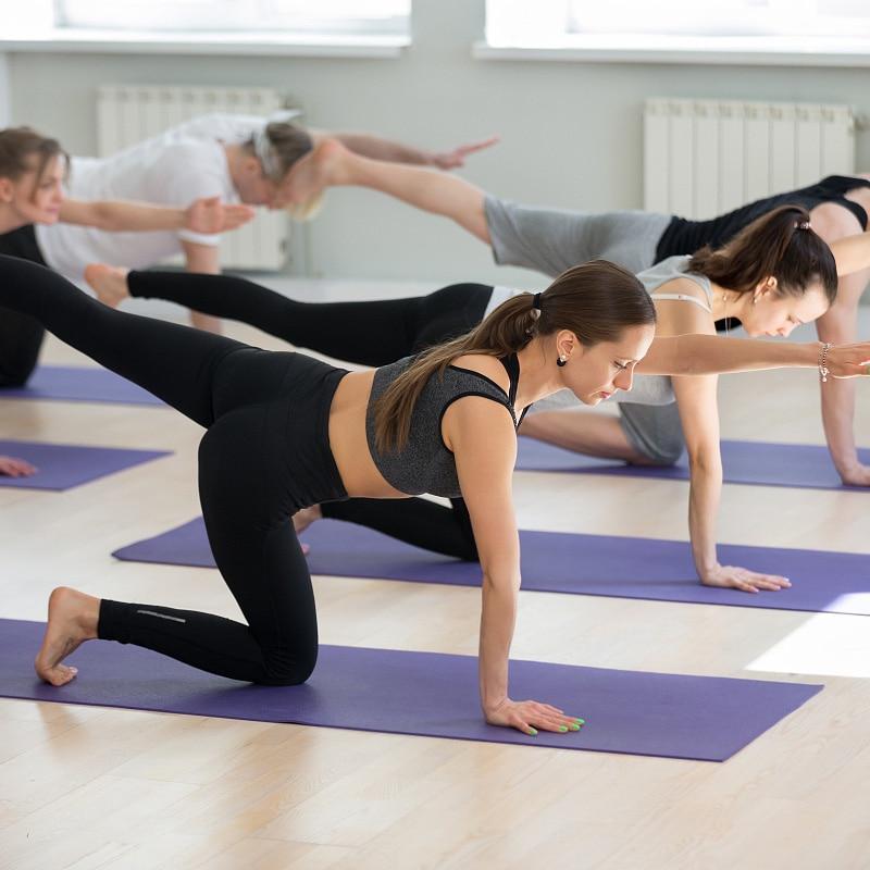 Double Sided Yoga Mat 183X60 CM Position Line Pilates Mats Gym Non Slip Fitness Mat For
