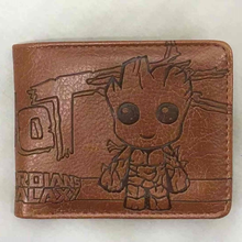 Disney Marvel Animation Peripherals Guardians of The Galaxy Little Tree Groot Wallet Star Wars PU Embossed Student Wallet
