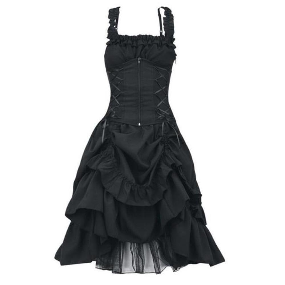 Robe Steampunk victorienne noire vêtements gothiques de grande taille rétro Cosplay grande taille Vintage soirée Lolita Corset robe 4XL 5XL