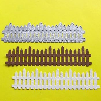 Creación sorpresa troqueles de corte valla de madera álbum de recortes Cardmaking bricolaje artesanía de papel plantilla Metal troqueles