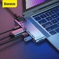 Baseus Dual Type C USB 3,0 концентратор для Macbook Pro 3 USB C концентратор для 4K HD TF SD Card Reader RJ45 PD адаптер 3 USB C док-станция