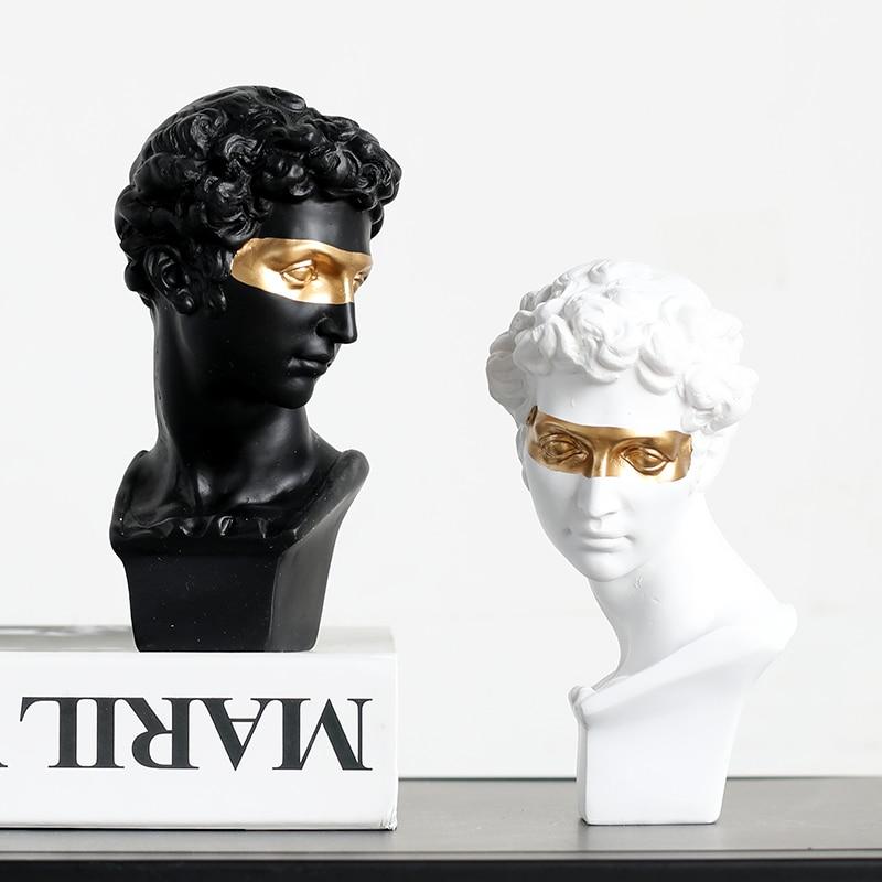 Nordic Style Gypsum Head Firenze Art Sculpture Giuliano De' Medici Figurine Creative Resin Craft Decorations For Home R3850